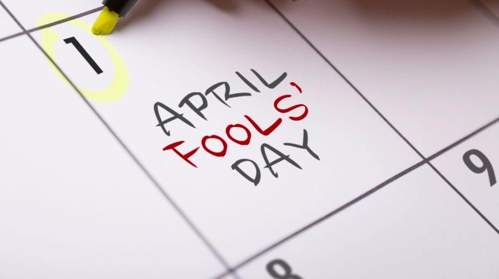 April Fools Calendar